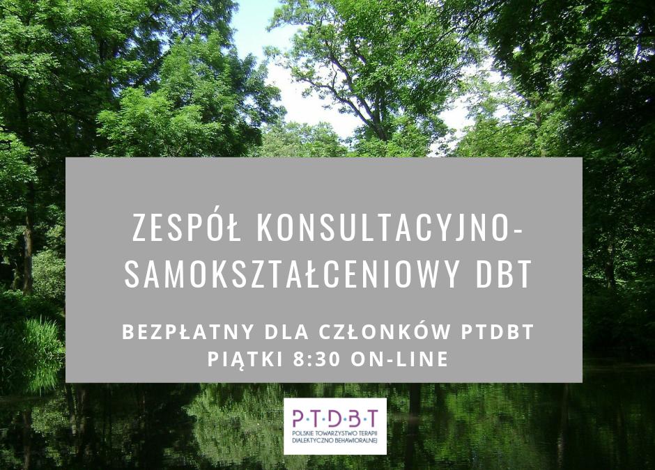 Zespół konsultacyjno-samokształceniowy DBT on-line piątki 8:30
