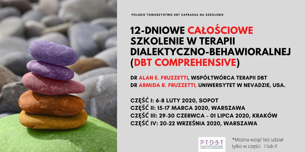 Szkolenie DBT Comprehensive 2020- Całościowe szkolenie DBT: 12 dni szkoleniowych (Sopot, Warszawa, Kraków, Warszawa)