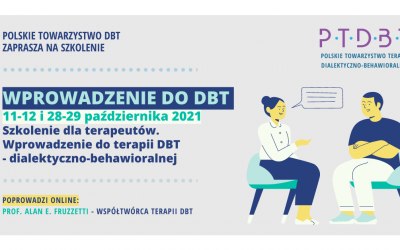 Wprowadzenie do terapii DBT, dialektyczno-behawioralnej